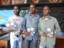 "Friends of Angola, ""Know and Demand Your Rights"" launch in Luanda, showing human rights training materials."