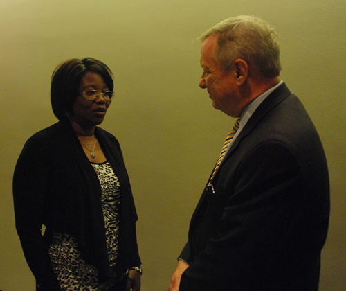 Sen Durbin and Annie Chebeya